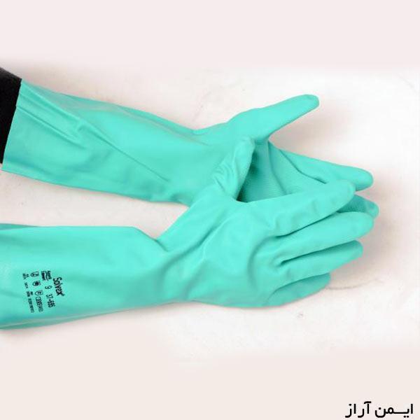 دستکش نیتریل بلند