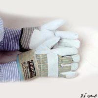 دستکش کف چرم ساده(یک تکه)